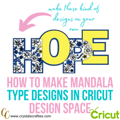 How to create a mandala design in Cricut Design Space