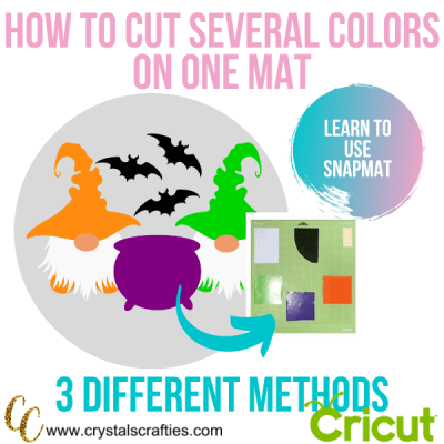 How to cut several colors on one mat | The SnapMat method