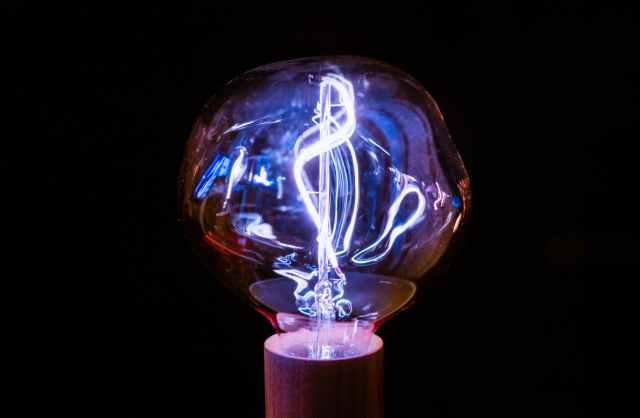 brown framed light bulb