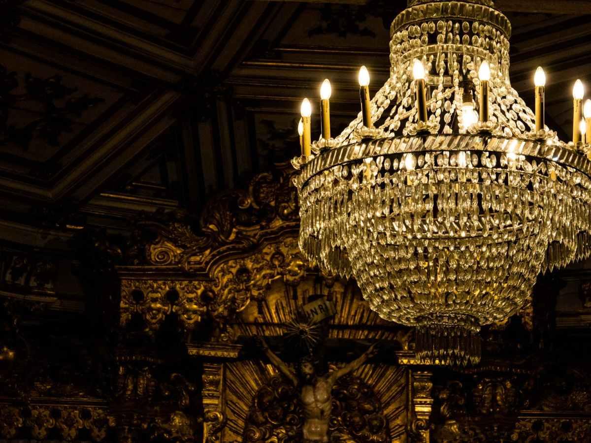 brown chandelier