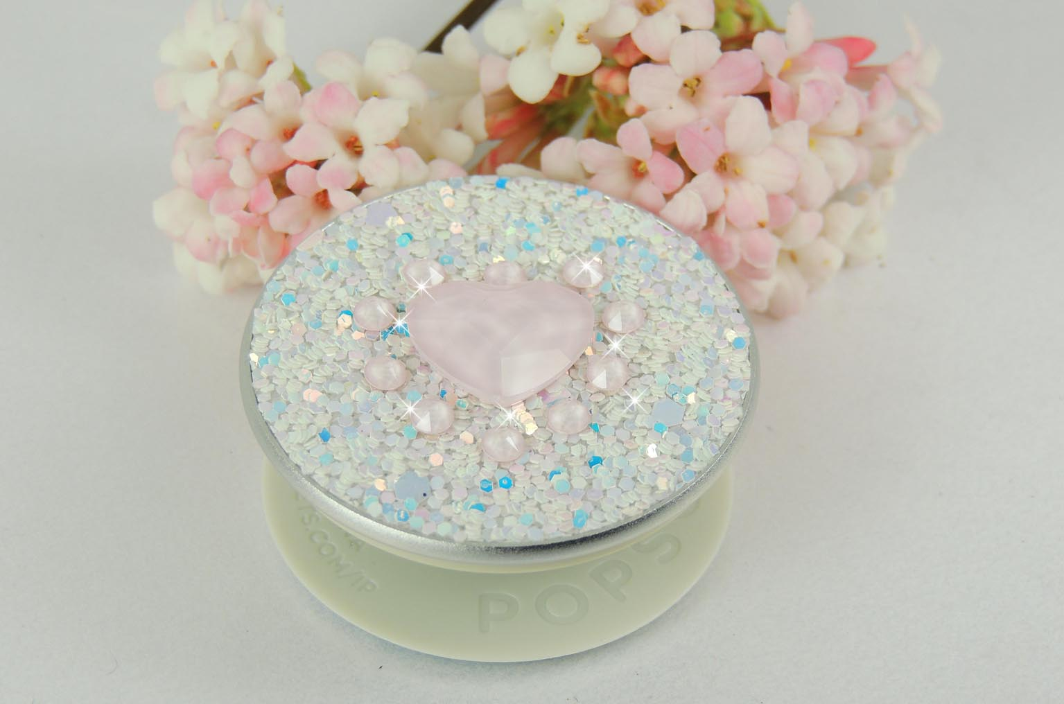 Unicorn Heart Bling Crystal Popsoket. Crystals by Swarovski®