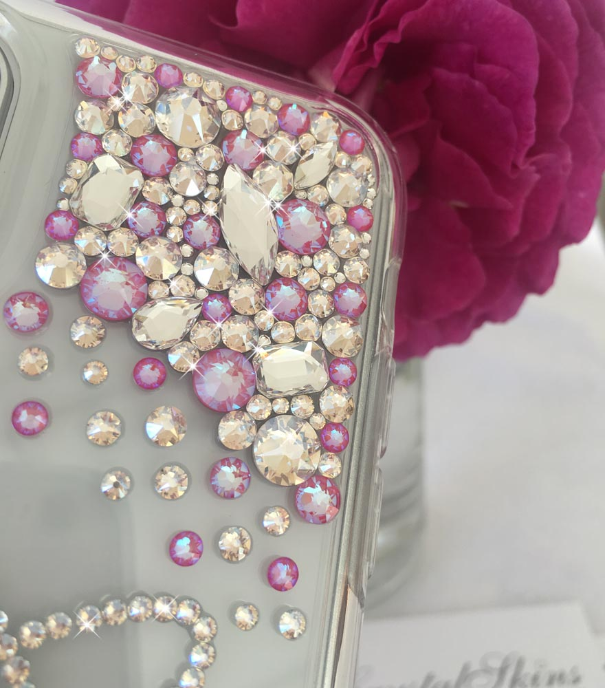 Cascade pink moon iphone 11 bling crystal Swarovski® diamond case jewelled