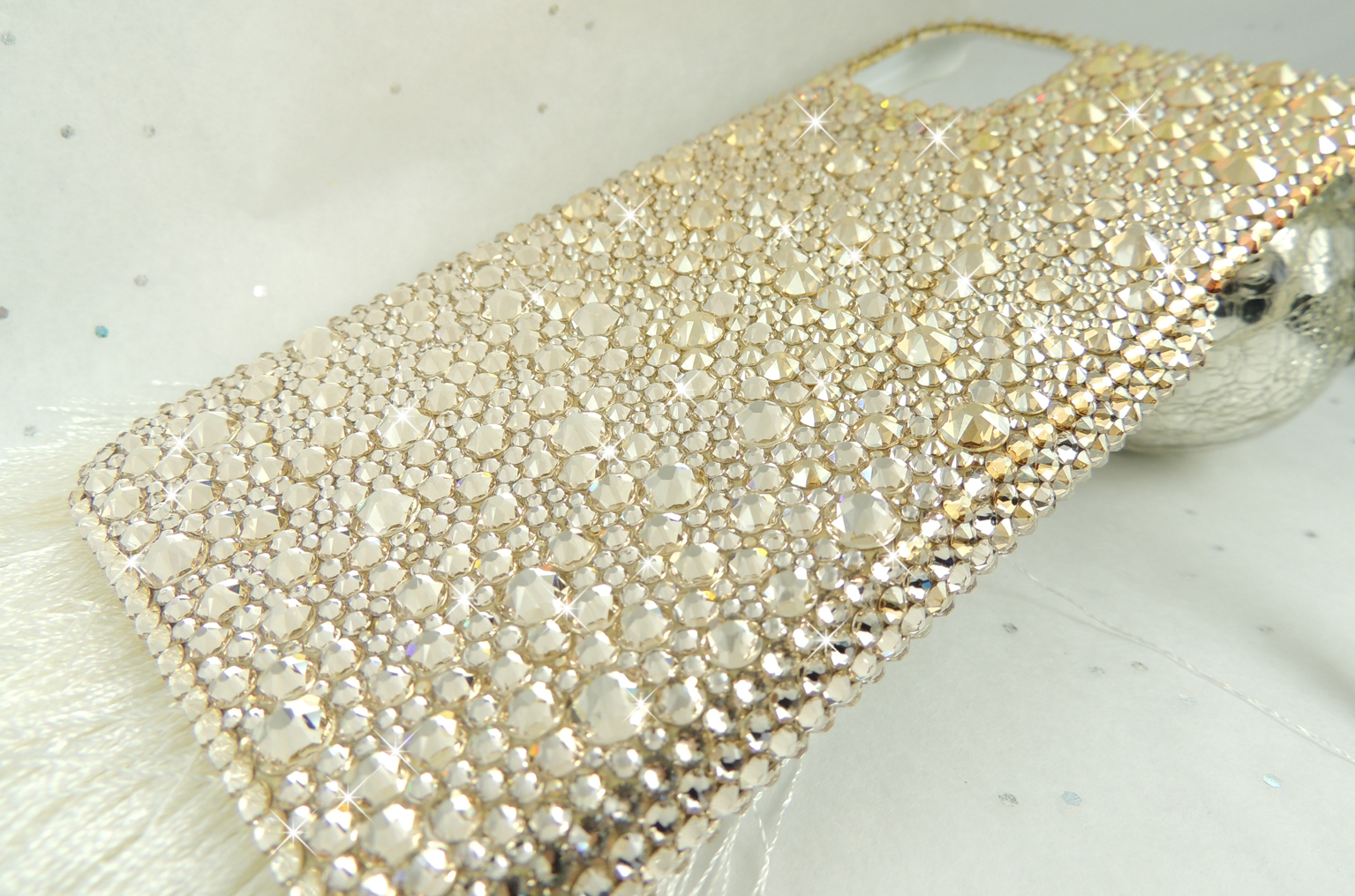 Gold ombre Swarovski crystal iphone 11 pro max case