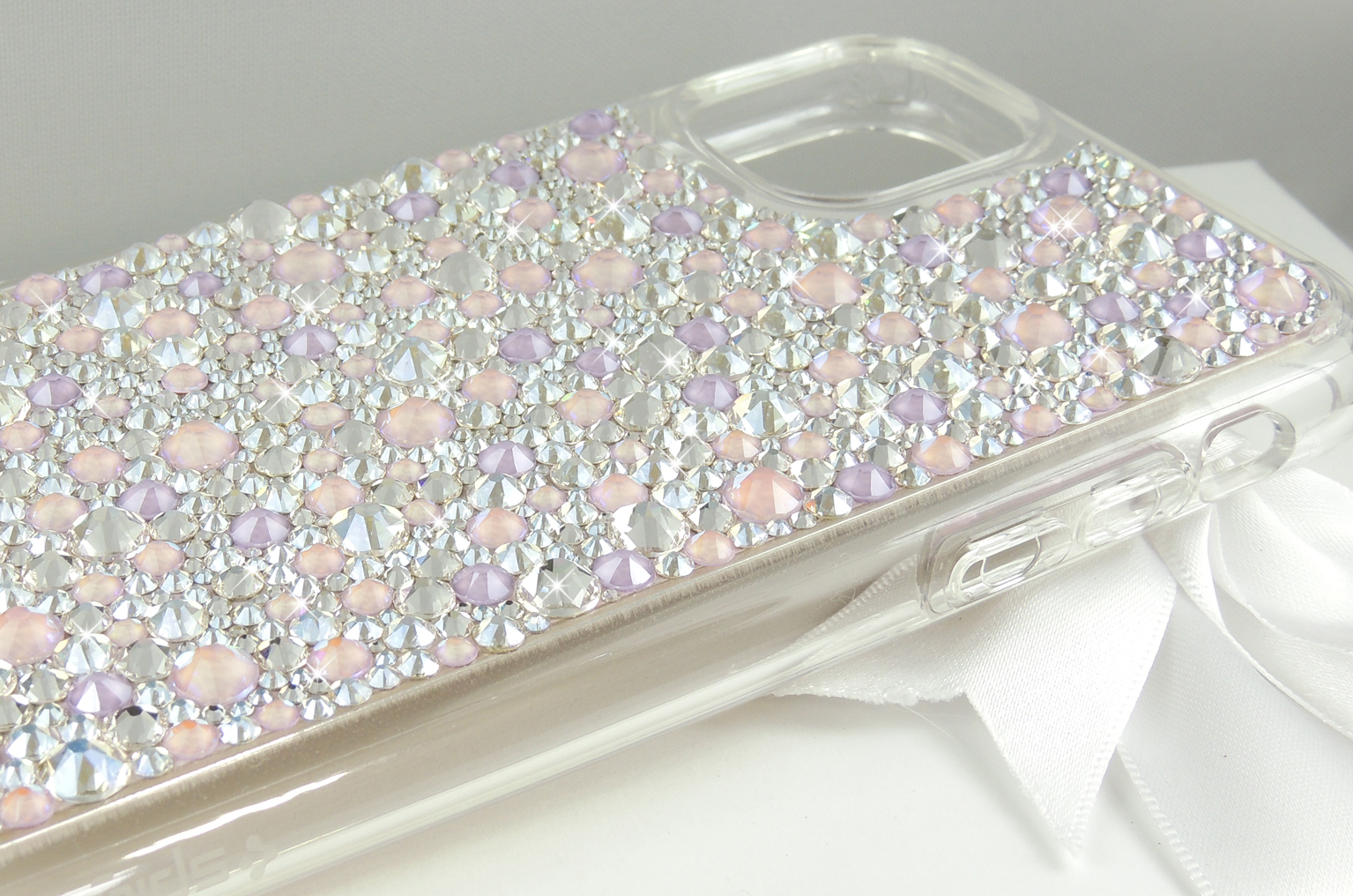 Lilac ballet bumper Swarovski® crystal case for iphone 11 pro max