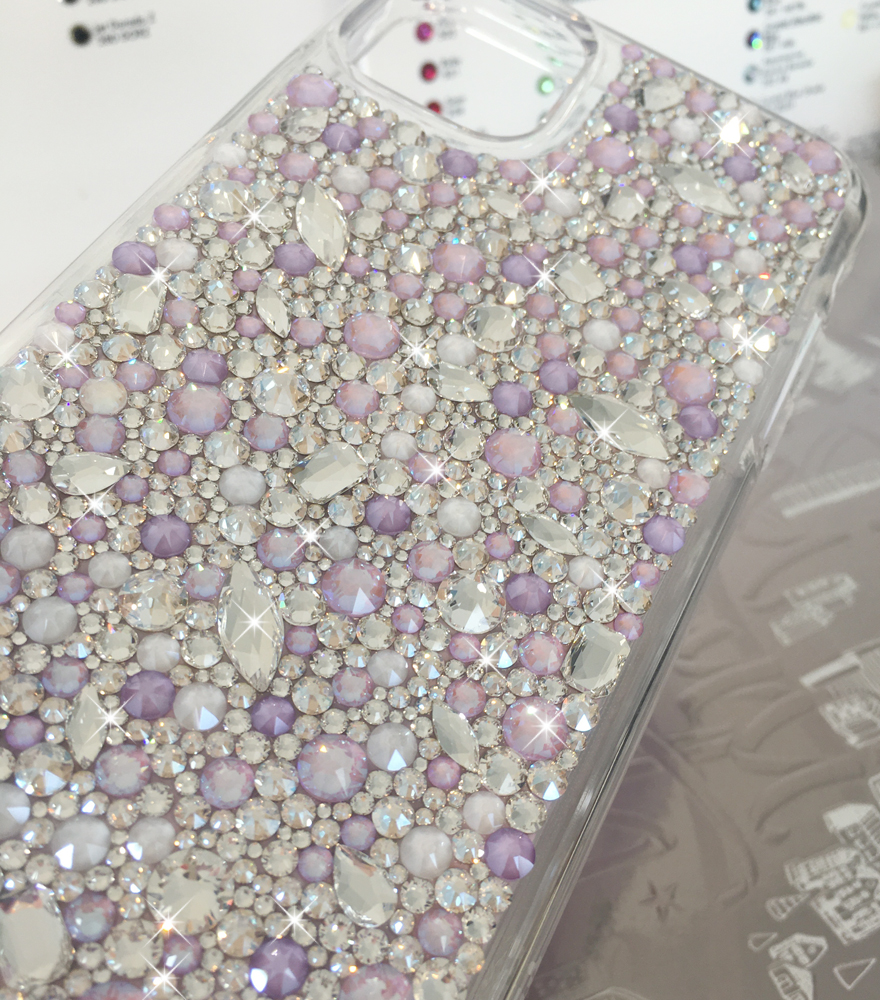 Lilac jewel bumper Swarovski® crystal case for iphone 11 pro max