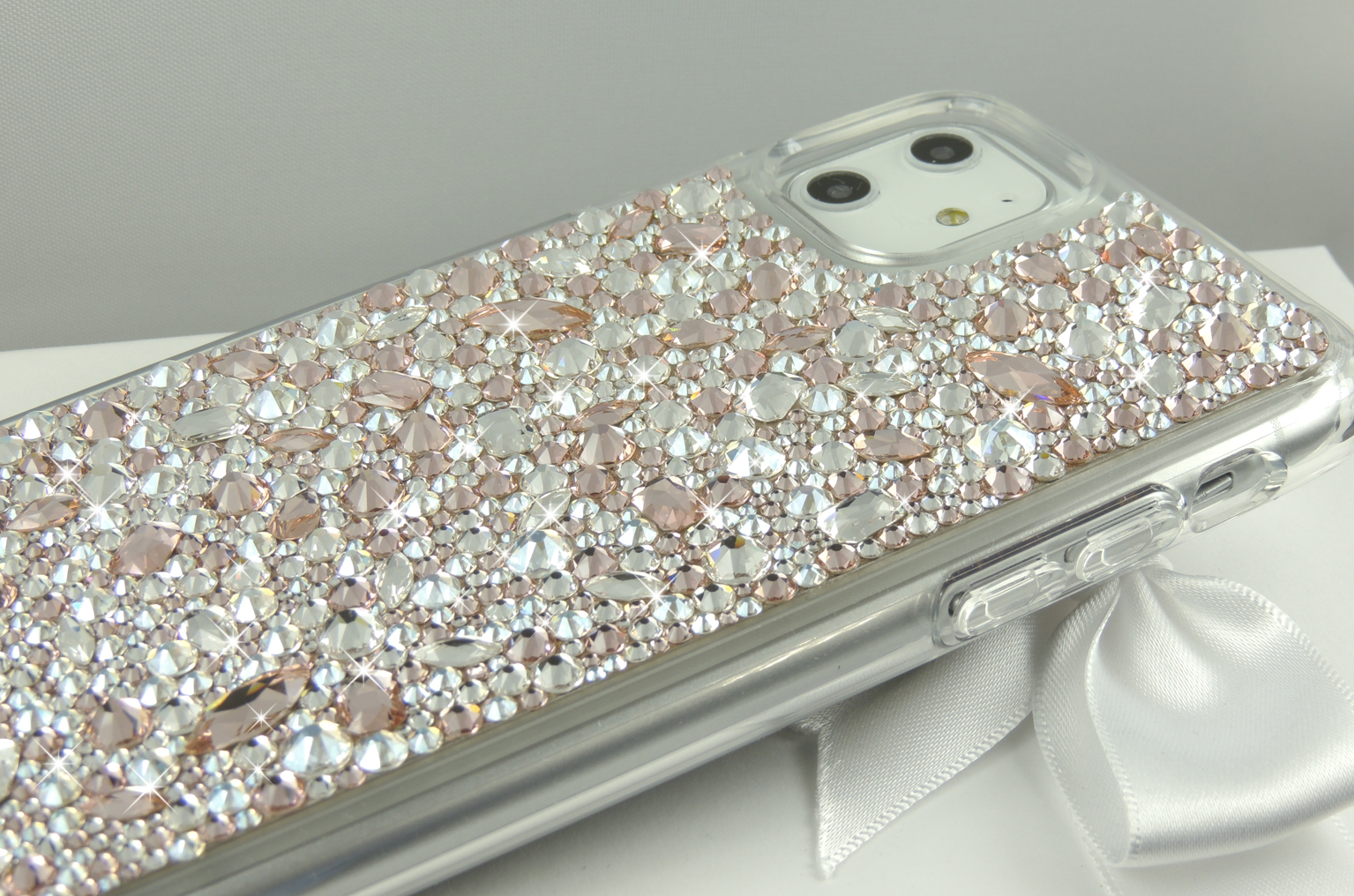 Rose Gold Jewel Bumper Case. Crystals from Swarovski®