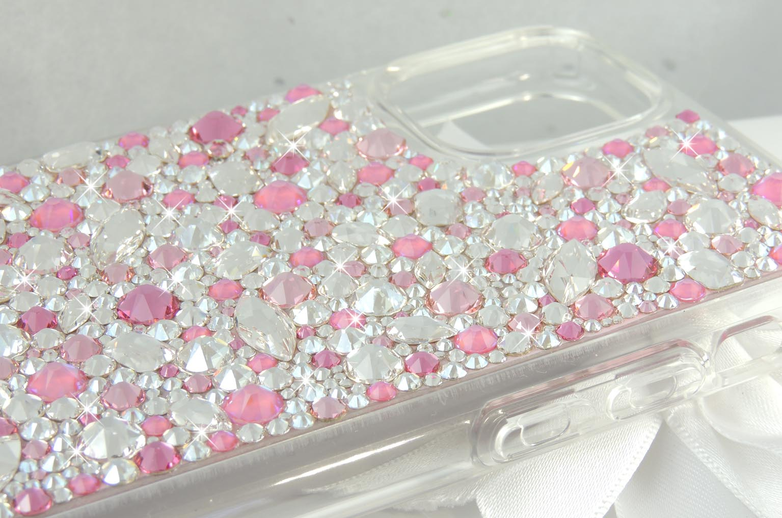 Pink themed Jewel Bumper Case. Crystals by Swarovski.