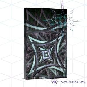 Centered Vortex Canvas Art Print