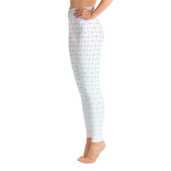 Fractal Field Pattern Yoga Leggings