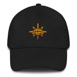 Ball Cap with Embroidered Crystal Sun Studio Logo