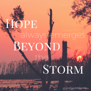 Hope Always Emerges Beyond the Storm {Link-Up}