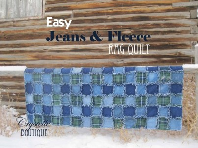 Crystelle Boutique - Easy Jeans and Fleece Rag Quilt Step-by-Step Directions