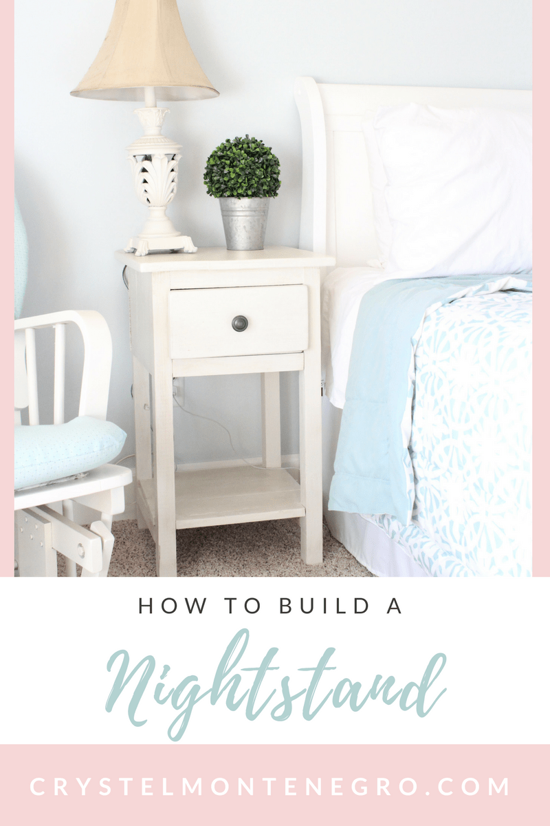 DIY Nightstand / How to build a nightstand with a drawer