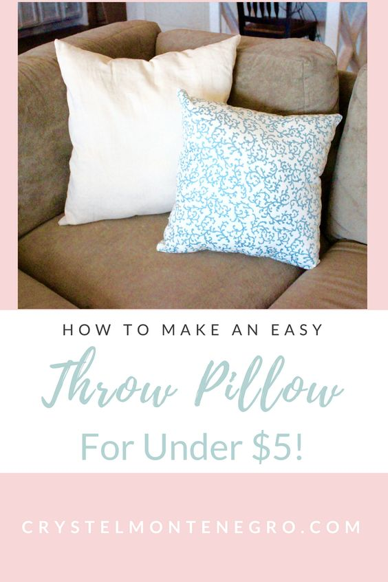 sew an easy throw pillow / DIY throw pillow