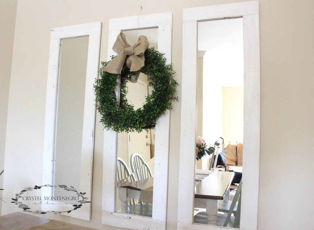 Rustic Wall Mirrors -- DIY 3 Farmhouse mirrors for about $20 total!
