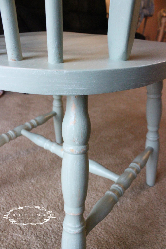 Oak Kitchen Table and Chairs Makeover
