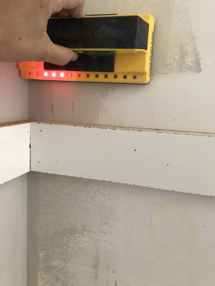 shelf cleats and a stud finder