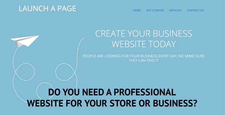 Launch A Page - Create Your Business Website Today