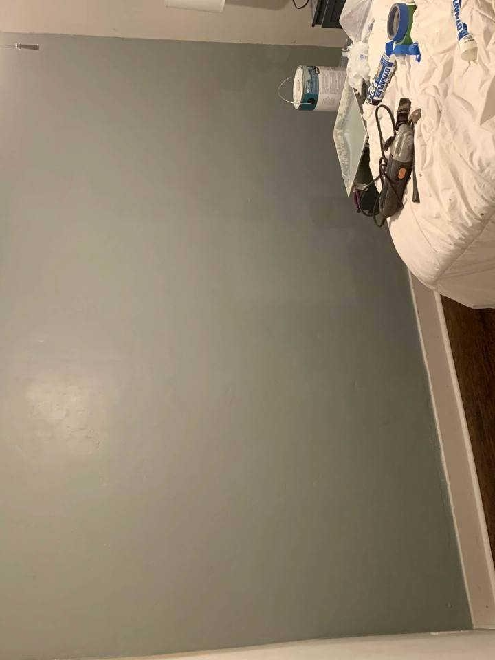 Completed painted wall