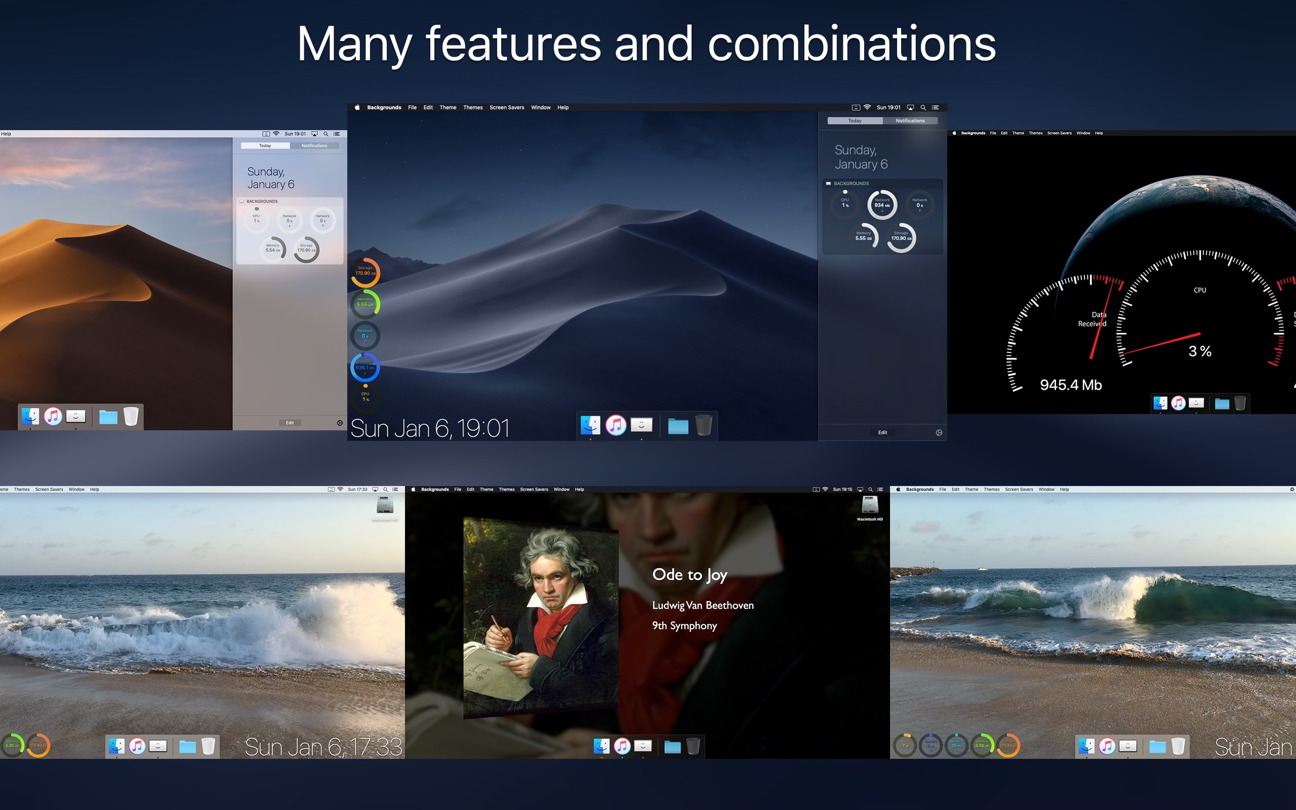 Backgrounds 9.2 Mac 破解版 桌面增强和美化工具