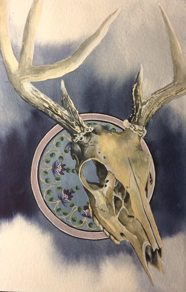Deer Skull Watercolor Paintings