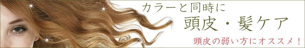 カラーと同時に頭皮・髪ケア 頭皮の弱い方にオススメ!