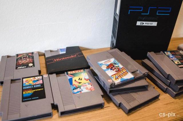 Die Auswahl der Spielekonsolen und Titel war schier unendlich, Klassiker waren besonders beliebt