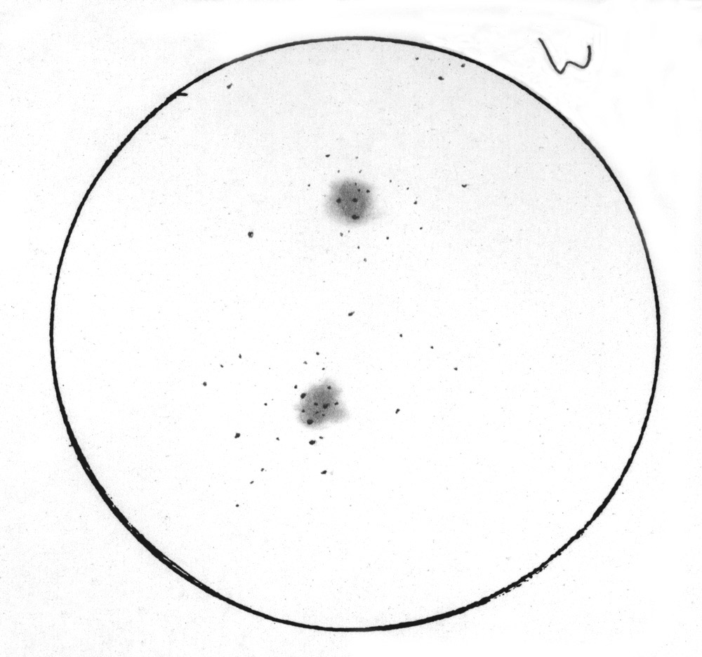 Sketching at the telescope: Larry McHenry's Double Cluster