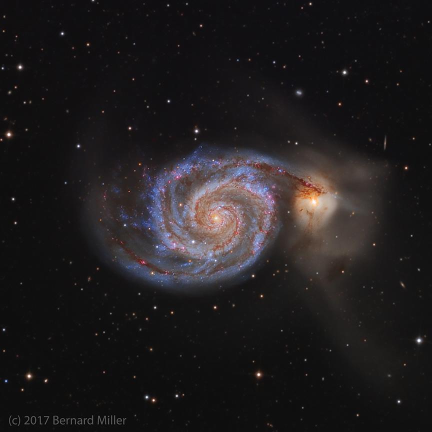 The Whirlpool Galaxy M51 in Canes Venatici  Astronomy Magazine  Interactive Star Charts