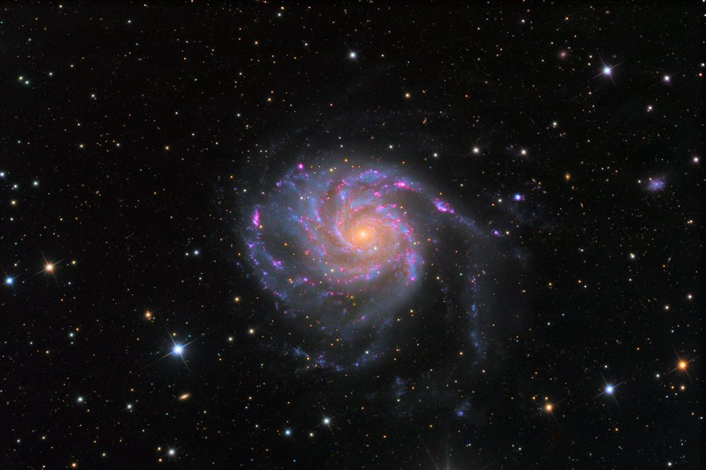 Spiral Galaxy M101 In Ursa Major