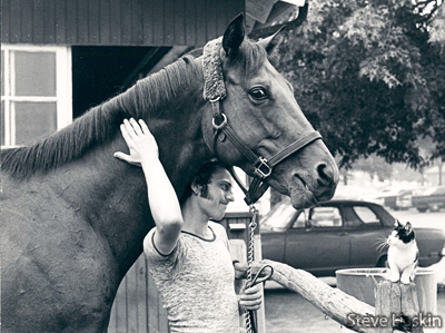 This great picture by Bob Haskins shows Riva Ridge the day after he set a world record in the Brooklyn Handicap