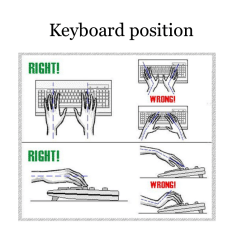 Ergonomic Chair Keyboard Position Infinity Massage Reviews Brown Cs Repetitive Strain Injury