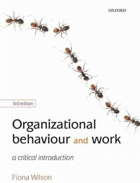 Organizational Behaviour and Work A Critical Introduction
