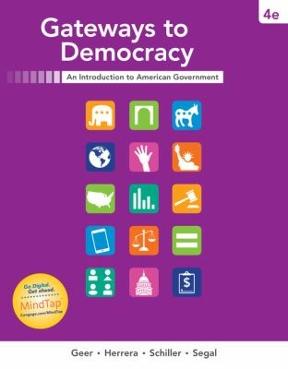 Gateways To Democracy 4th Edition  Rent 9781337097734