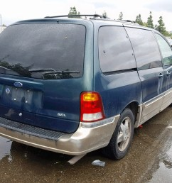 2fmda5349yba17220 2000 ford windstar s 3 8l rear view 2fmda5349yba17220  [ 1600 x 1200 Pixel ]