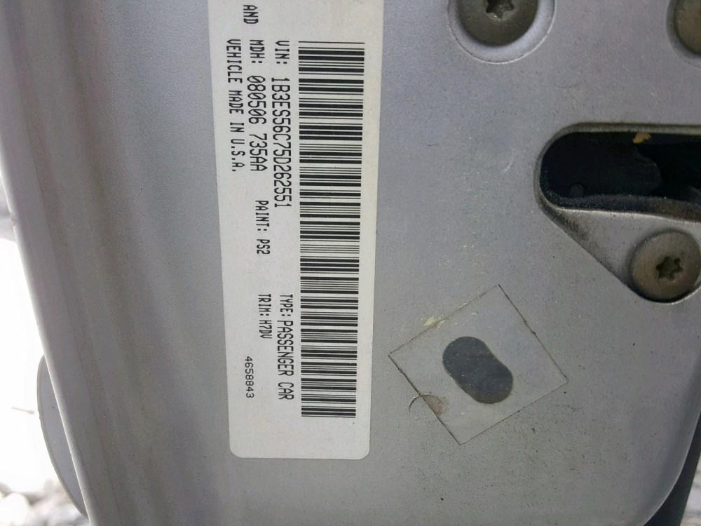 medium resolution of  1b3es56c75d262551 2005 dodge neon sxt 2 0l