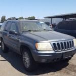 2003 Jeep Grand Cher 4 7l 8 In Ca Hayward 1j8gw58nx3c608100 For Sale Autobidmaster
