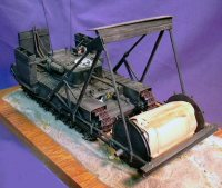 1/35 scale Tamiya Churchill with carpet layer gear