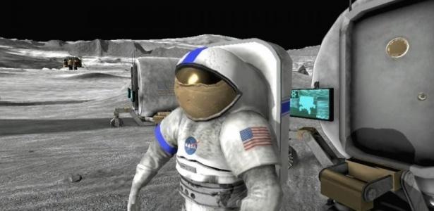O jogo simula uma base lunar futurista; clique aqui para ver mais imagens