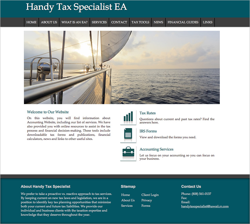 free accountant website templates