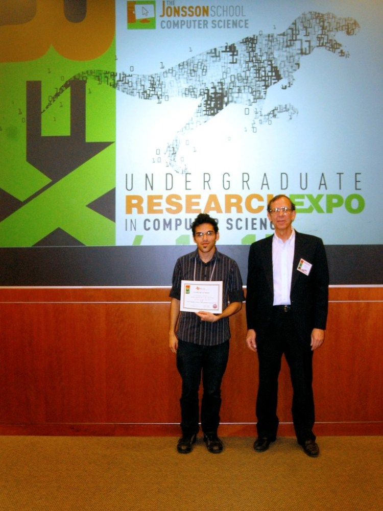 Prof. John Cole and Nicholas Herrera (UT Dallas) - Honorable Mention in the poster presentations.