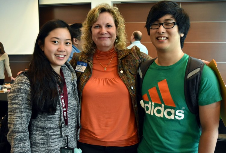 Cynthia Gallatin and two of her old students.