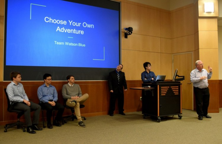 """Dr. Chris Davis and the """"Choose Your Own Adventure"""" team."""