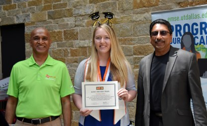 Kurt Holmes prize given to the top performing undergraduate student went to Courtney Erbes.