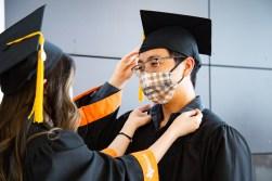 Julia Kim helps Christian Poblete CS ME grads 2021