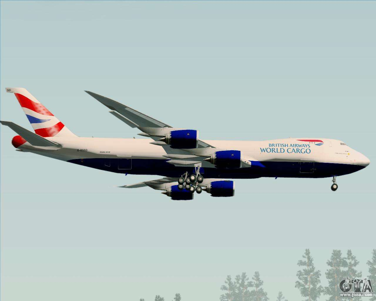 Boeing 747 8 Cargo British Airways World Cargo For Gta San
