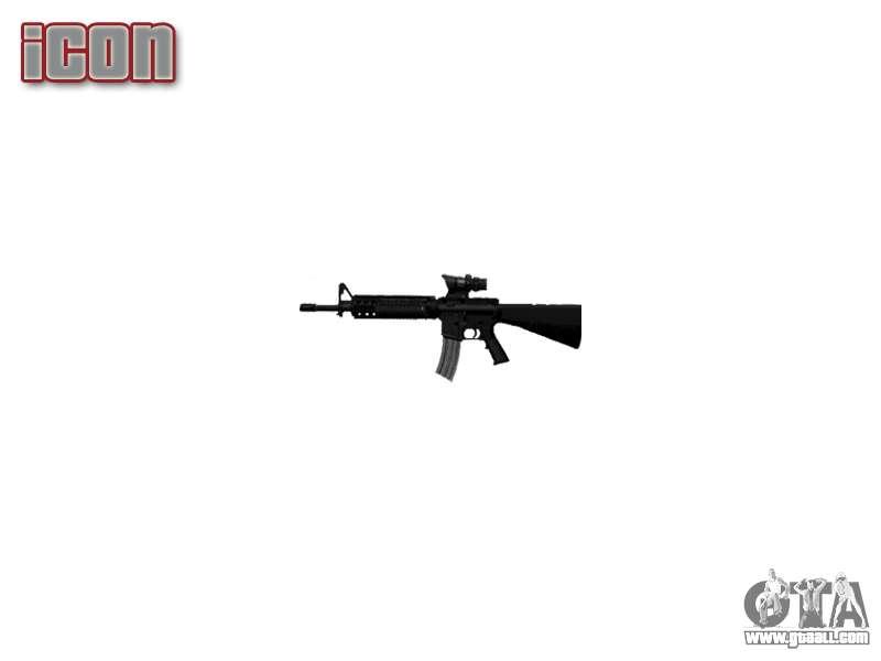 Rifle M16A4 ACOG target for GTA 4