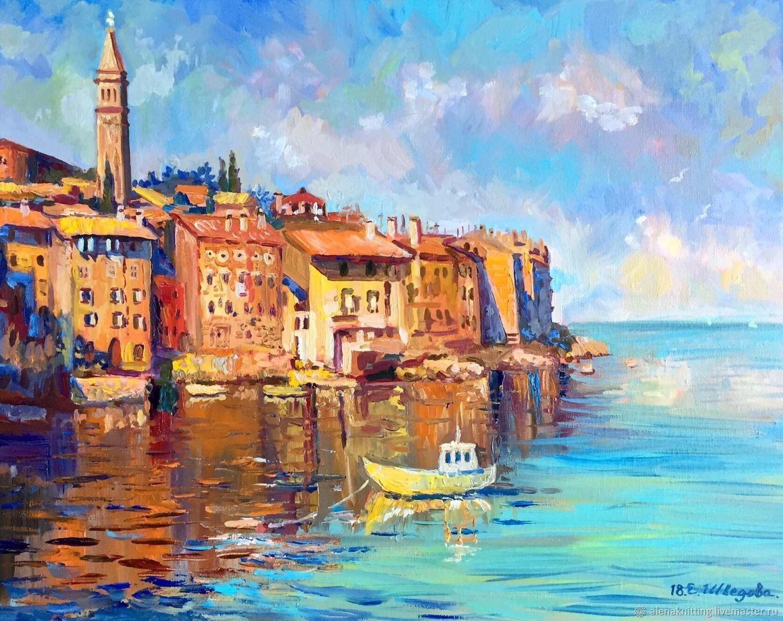 Oil Painting Quot Evening Light Rovinj Croatia 187 купить на