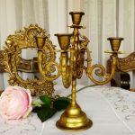 Vintage Brass Candelabra Candle Holder France Kupit Na Yarmarke Masterov Dcyapcom Predmety Interera Vintazhnye Trier