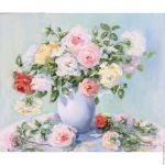 Oil Painting The Morning Still Life Bouquet Flowers Roses Zakazat Na Yarmarke Masterov D3azucom Kartiny Tula